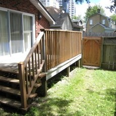 Rear Deck, yard